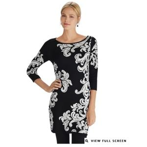 White House Black Market 3/4 sleeve tunic pullover